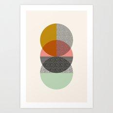 Three's a crowd Art Print