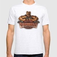 PITBULL RIDERS Mens Fitted Tee Ash Grey SMALL