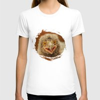 SNOWY Womens Fitted Tee White SMALL