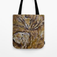 Sleeping Kittens Tote Bag