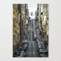 Valletta Steep  Canvas Print