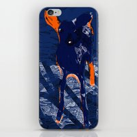 Blue deer iPhone & iPod Skin