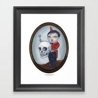 Head Banger - Carnival Sideshow Freak Framed Art Print