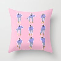 Hotline Bling (pink) Throw Pillow