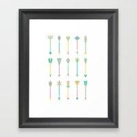 Pastel Arrows Framed Art Print