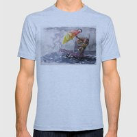 Umbrella Man Mens Fitted Tee Athletic Blue SMALL