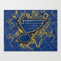 STL Blues swirl Canvas Print