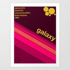 galaxy single hop Art Print