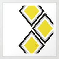 Bumblebee Triangles Art Print