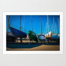 Winter Island Boats Art Print