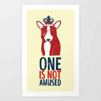 One is not amused Art Print