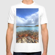 Rodel, Isle of Harris Mens Fitted Tee SMALL White
