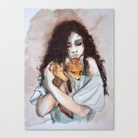 My fox, my love Canvas Print