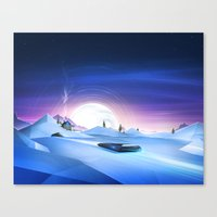Cold Chase Canvas Print