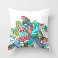 Tons Of Shoes Throw Pillow