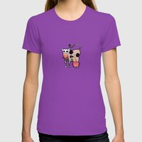 Cow Zombie Womens Fitted Tee Ultraviolet SMALL
