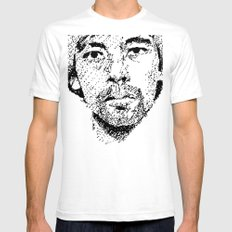 Pixel Portrait : Onra SMALL Mens Fitted Tee White