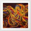 Silk Ribbons Art Print
