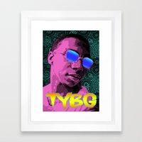 Pixel Art Lil B Framed Art Print
