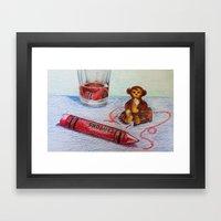 Crayon Love My Monkey Is… Framed Art Print