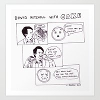 David Mitchell With Cake Art Print