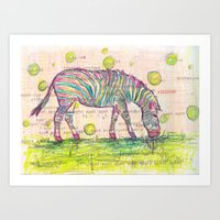 Zebra Stripes Art Print