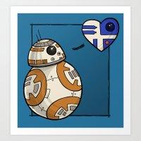 Droid Love Art Print