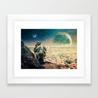 Watching Closely Framed Art Print