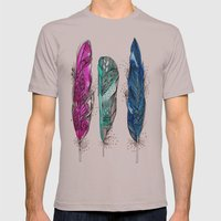 dream feathers 2 Mens Fitted Tee Cinder SMALL