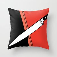 THE KNIFE Throw Pillow