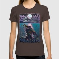 Midnight Meeting Womens Fitted Tee Brown SMALL