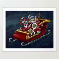Christmas Hijackers Art Print