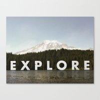 Go Explore Canvas Print
