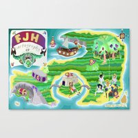 FJH ✮ Cartography EP Canvas Print