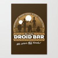 Droid Bar Canvas Print