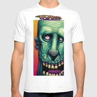Zombie Blues Mens Fitted Tee White SMALL