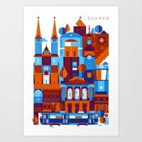 Zagreb Art Print