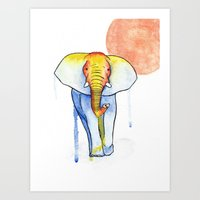 Art Print featuring Elephant by Eric Weiand