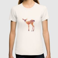 Fawn Womens Fitted Tee Natural SMALL