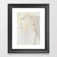 Oneline Vikings: Ragnar Lothbrok Framed Art Print
