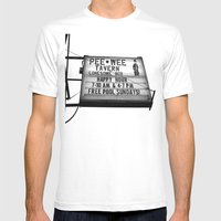 Pee Wee Tavern Sign Mens Fitted Tee White SMALL