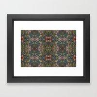 Fall Collage Framed Art Print