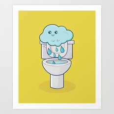 Bathroom Break Art Print