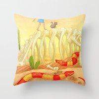 The Deadly Desert Throw Pillow