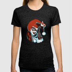 Harley Quinn Womens Fitted Tee Tri-Black SMALL