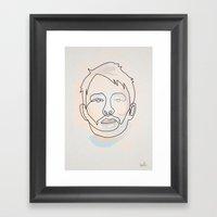 One Line Thom Yorke Framed Art Print
