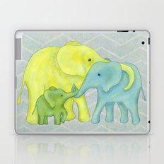 Elephant Family of Three Laptop & iPad Skin