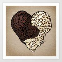 LEOPARD LOVE Art Print