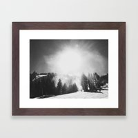 Blowing Snow Framed Art Print