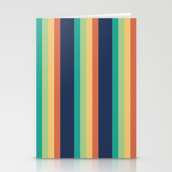 Happy Stripes Stationery Card